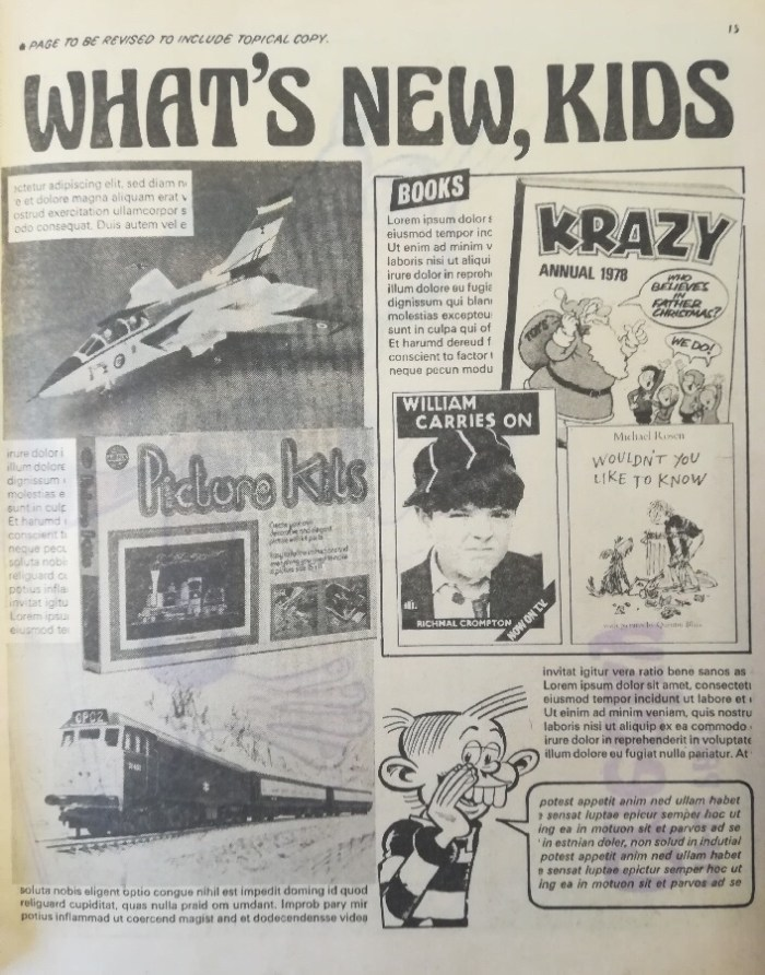 Cheeky Weekly Issue One Dummy - What's New, Kids
