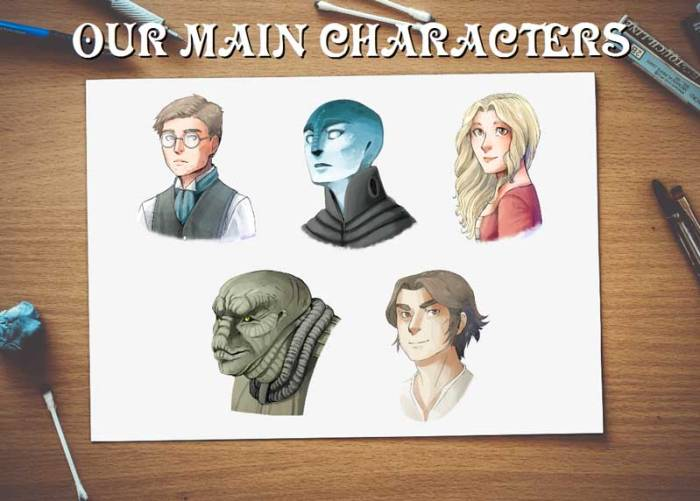 Milford Green - Graphic Novel - Characters