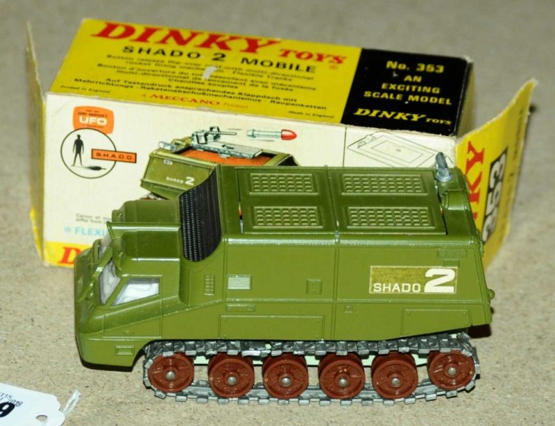 A Gerry Anderson SHADO Mobile Dinky Toy from UFO (albeit the wrong colour). Image: Vectis