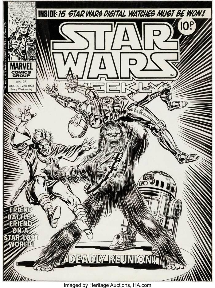 Tom Palmer's original cover art forStar Wars Weekly Issue 26