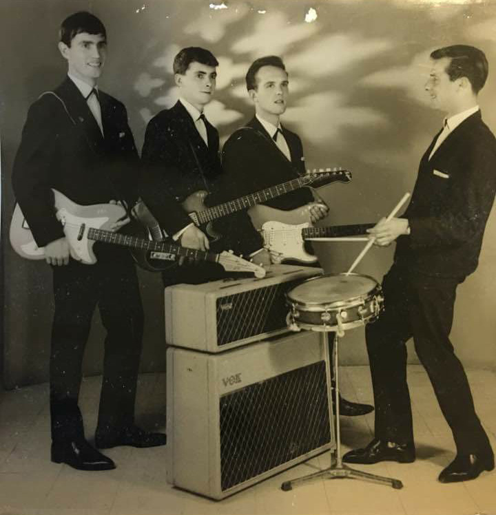 The Whirlwinds. Formed in Cyprus when Jim Baikie was in the RAF, in the very early 1960s. This isn't the full line-up - Alan Webb not pictured. The Whirlwinds made at least one TV appearance.