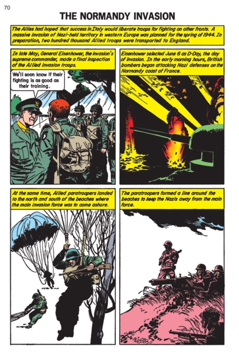 Classics Illustrated World War Two Special Art