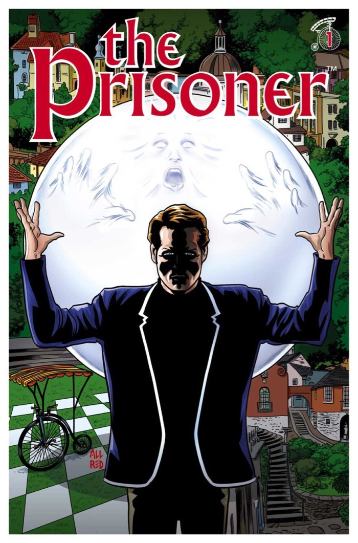 The Prisoner #1 Cover A: Mike & Laura Allred. The Prisoner ™ and © ITC Entertainment Group Limited. 1967, 2001 and 2018. Licensed by ITV Ventures Limited.  All rights reserved.