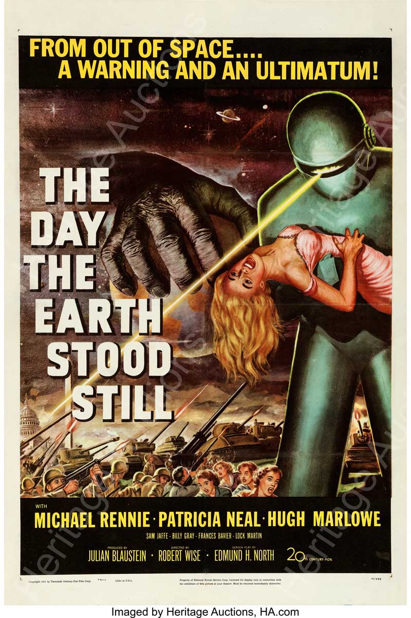 "The Day the Earth Stood Still (20th Century Fox, 1951). One Sheet (27"" X 41"")."