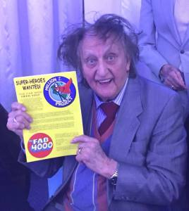 Ken Dodd lends his support to FAB 4000 project, shortly before he went into hospital earlier this year. Photo: Tim Quinn