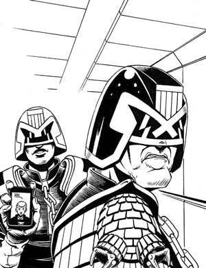 "Judge Dredd - ""Interrogation"" by writer Gavin Johnston and artist Aaron Murphy."