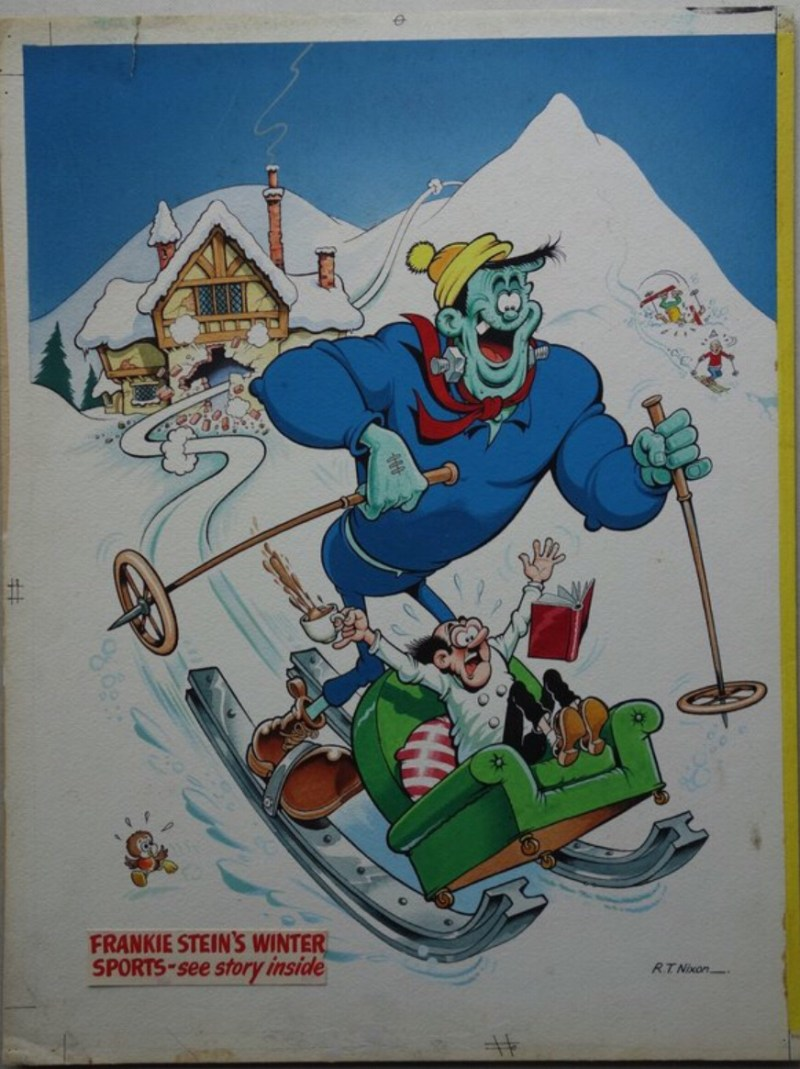 Comic Artwork - Frankie Stein Annual 1976 Rear Cover artwork by Robert Nixon