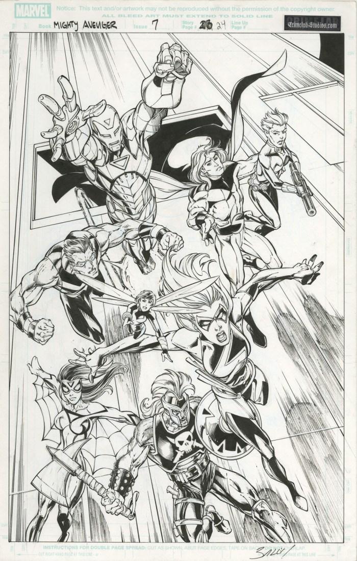 Mighty Avengers (#7) splash by Mark Bagley