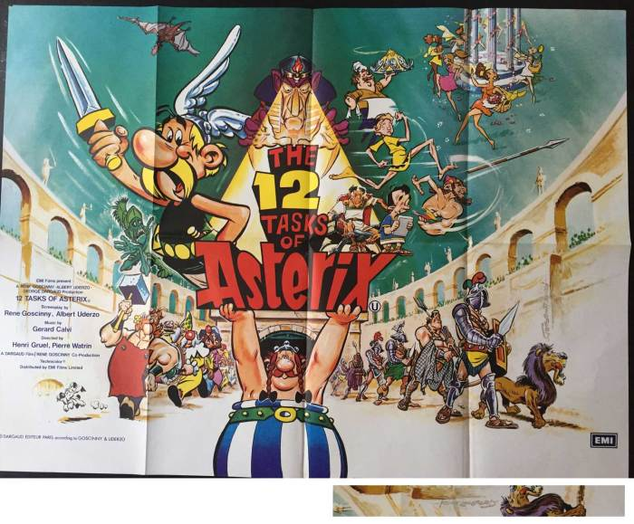 The 12 Tasks of Asterix Film Poster by Frank Langford
