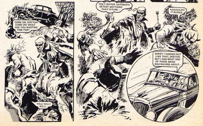 A scene from Doctor Sin's only original appearance, in the 1979 2000AD annual