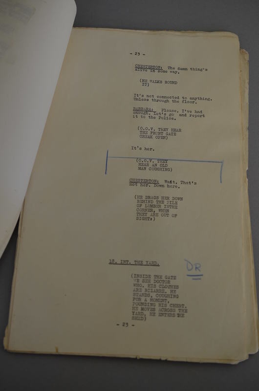 "William Hartnell's ""An Unearthly Child"" Doctor Who script"