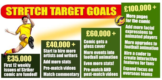 Striker Comic Issue One - Kickstarter Stretch Goals