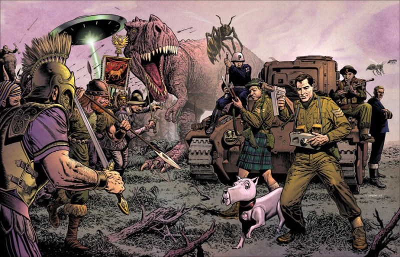 Chris Weston's wraparound cover art for an unpublished Phantom Patrol collection edited by Steve Holland