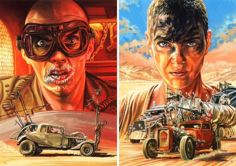 Mad Max: Fury Road art by Graeme Neil Reid
