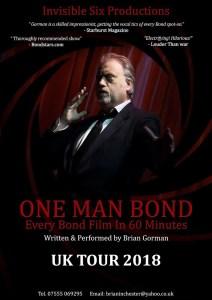 One Man Bond UK Tour Poster