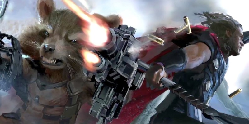 Avengers: Infinity War - Rocket Raccoon and Thor