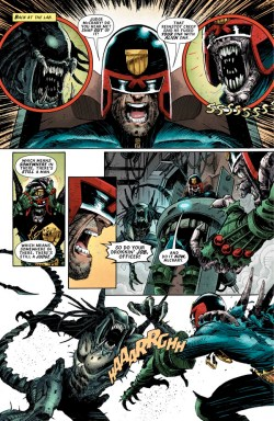 Art from Predator versus Judge Dredd versus Aliens #3 by Christopher Mooneyham