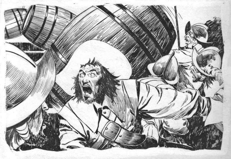 The Three Musketeers - art by Arturo Del Castillo