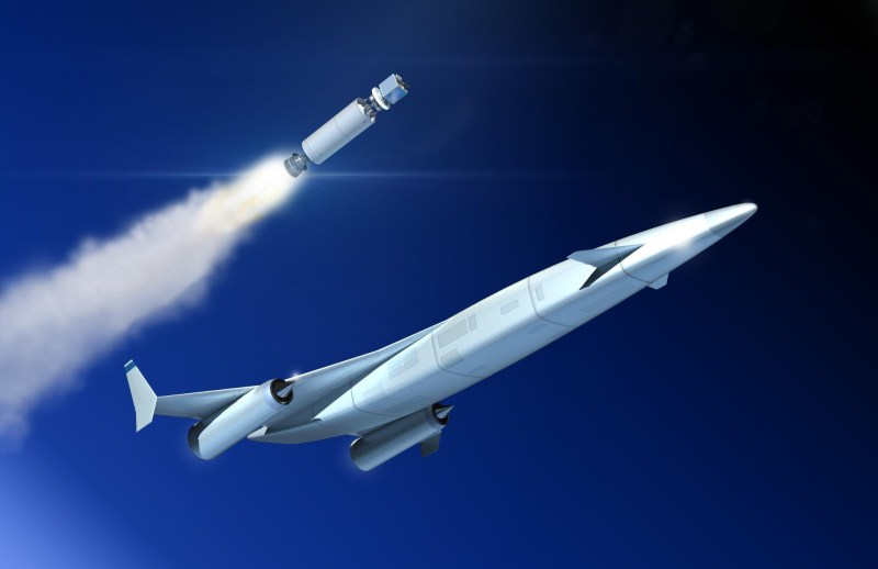 Artist's impression of the release of an upper-stage from a next-generation SABRE-powered reusable launch vehicle. The development of the SABRE technology will enable low-cost, high-cadence space access. Image: Reaction Engines