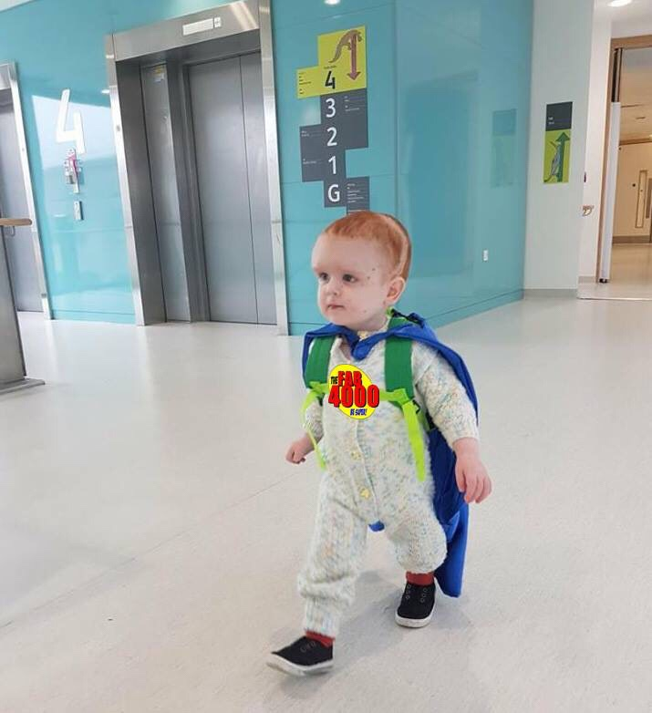 Funds raised from the sale of the FAB 4000 comic will help children like wonder boy Rowan.