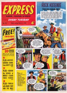 Issue 76 of Express, cover dated 3rd March 1956, featuring western strip