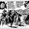 "A ""trailer"" for the ""Gun Law"" strip before its debut in the Daily Express in 1957"