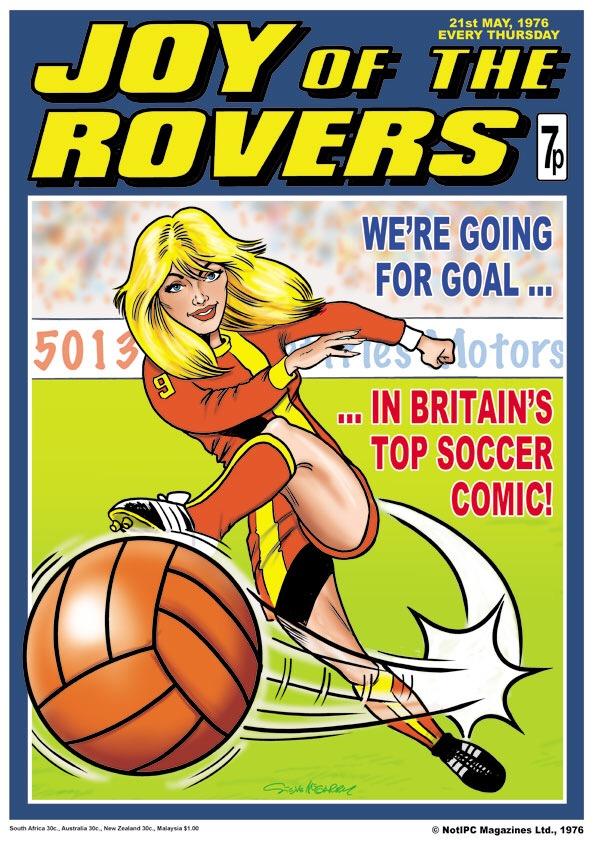 Comic Hero(ines): Joy of the Rovers by Steve McGarry