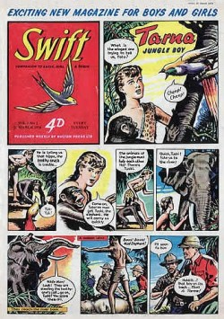 The first issue of Swift, published in 1954, a stablemate to Eagle aimed at younger readers