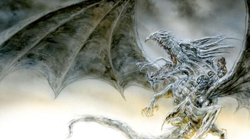 "Luis Royo's version of George RR Martin's ""The Ice Dragon"""