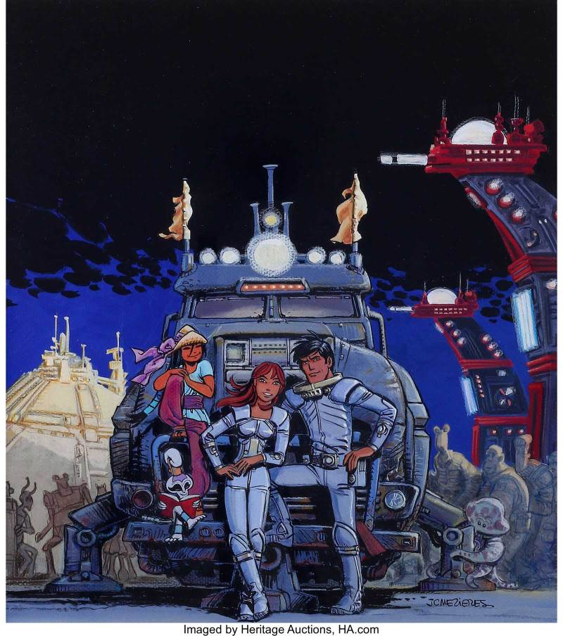Cover Art by Jean-Claude Mézières for Valerian Volume 19