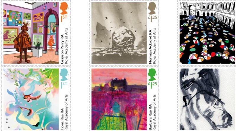 Royal Academy of Art Stamps 2018