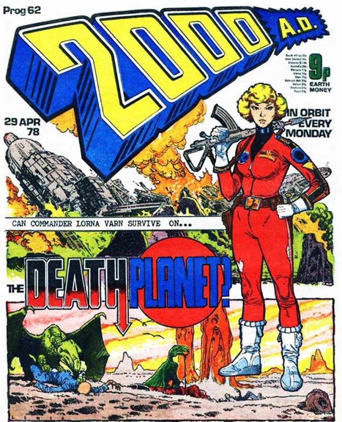 2000AD Prog 62 Cover by Brian Lewis