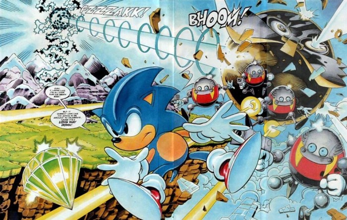 Sonic the Comic art by Nigel Kitching for Issue 52