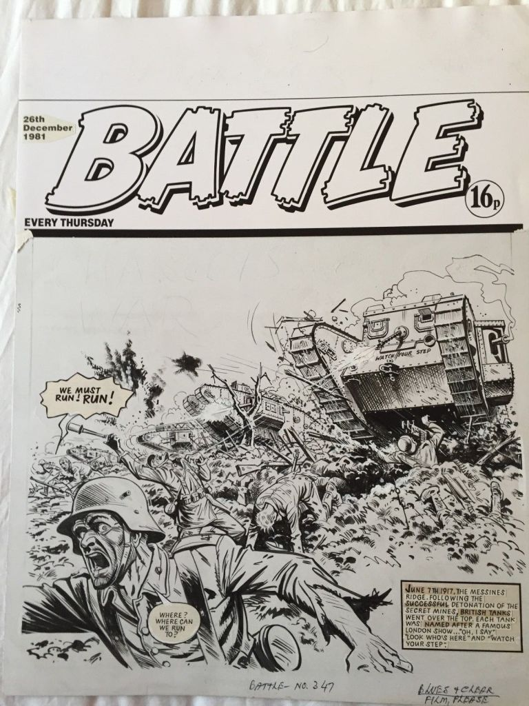 Battle Cover Charley's War cover dated 29th December 1981