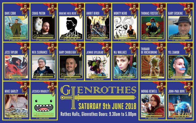 Glenrothes Comic Con 2018 Guests
