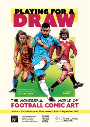Playing for a Draw National Football Museum 2018 Poster -art by Steve McGarry