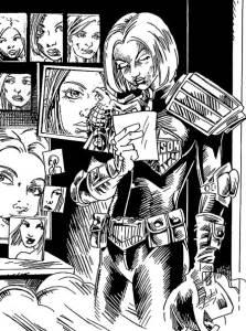 "Zarjaz 31 - Judge Dredd - ""Descendants Part 2"" by writers RoboMonkey147 & Colin Clayton and artist RoboMonkey147"