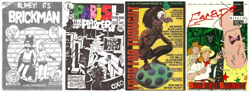 Some independent British comics of the 1980s