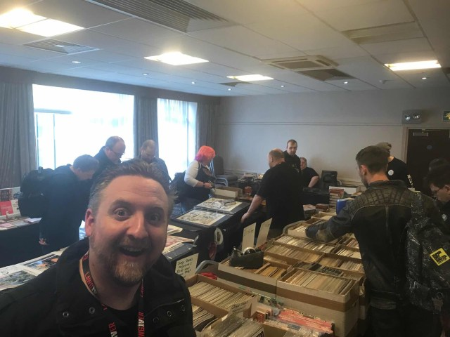 Vince Hunt, as we had a look at the original art at Lawgiver 2018