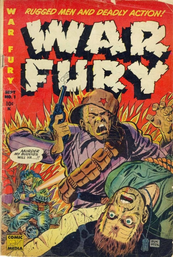 Don Heck's Cover for War Fury #1, published in 1952