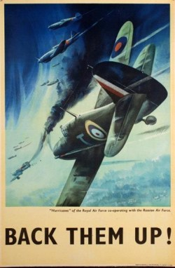 "BACK THEM UP! ""Hurricanes"" of the Royal Air Force co-operating with the Russian Air Force"