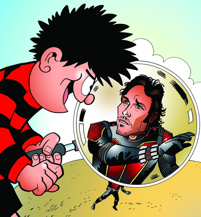 Ant Man star Paul Rudd is just one of many fans of the Beano. He was given copies of the comic during his appearance on The One Show recently. Art © Beano Studios