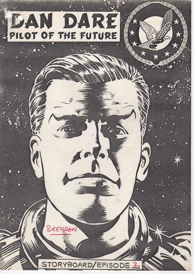 Brendan Mcarthy's cover for the storyboards for episode 2 of the proposed ATV Dan Dare series. Image courtesy Dale Jackson