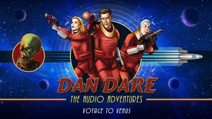 "New art for the Dan Dare Audio Adventure ""Voyage to Venus"", created to coincide with the Radio 4 Extra release. Designed by Mark Plastow with art by Brian Williamson."