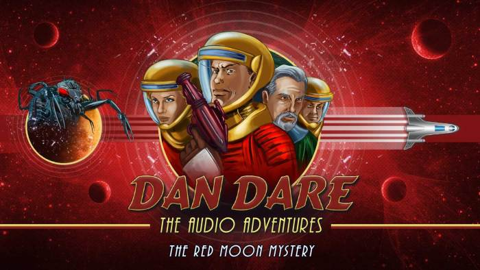 "New art for the Dan Dare Audio Adventure ""The Red Moon Mystery"", created to coincide with the Radio 4 Extra release. Designed by Mark Plastow with art by Brian Williamson."