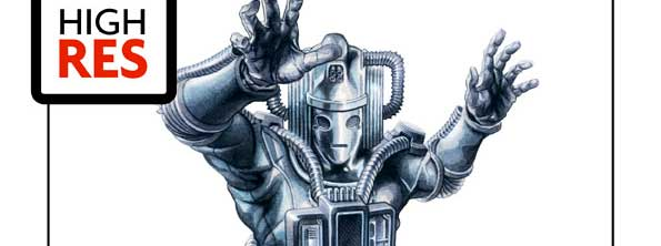 Don't delete this newsflash! Graeme Neil Reid has some great Cybermen art on offer in his latest art raffle