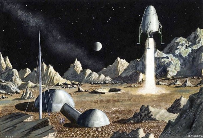 Lunar art by David A.Hardy