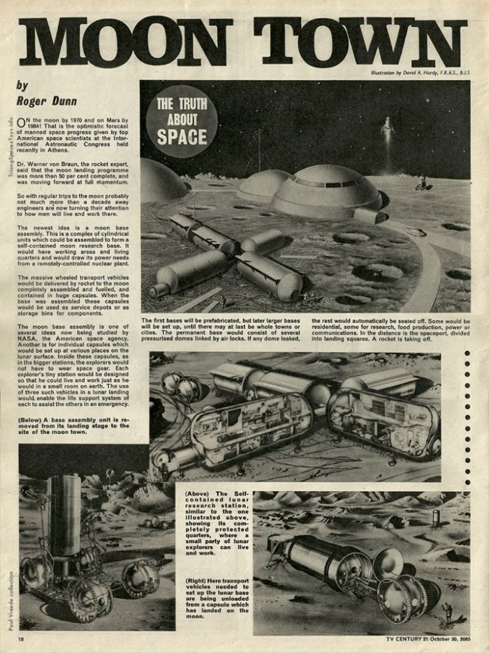 A page from the SF comic TV21