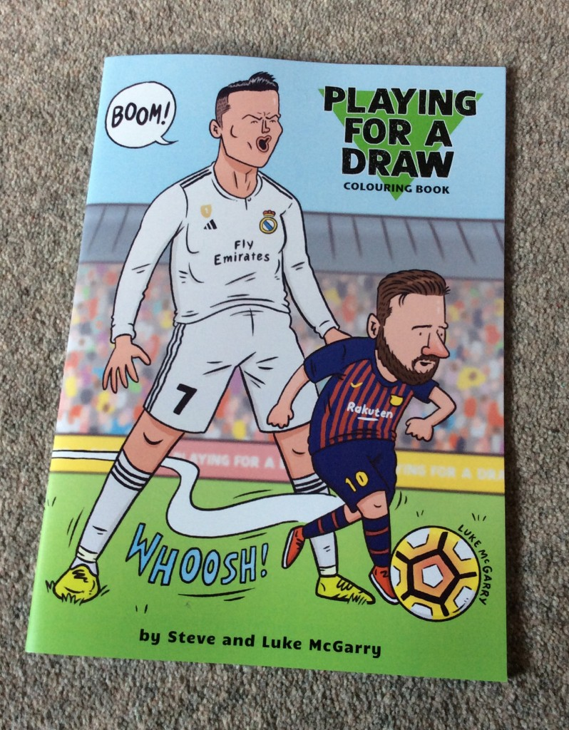 Playing for a Draw Colouring Book by Luke and Steve McGarry