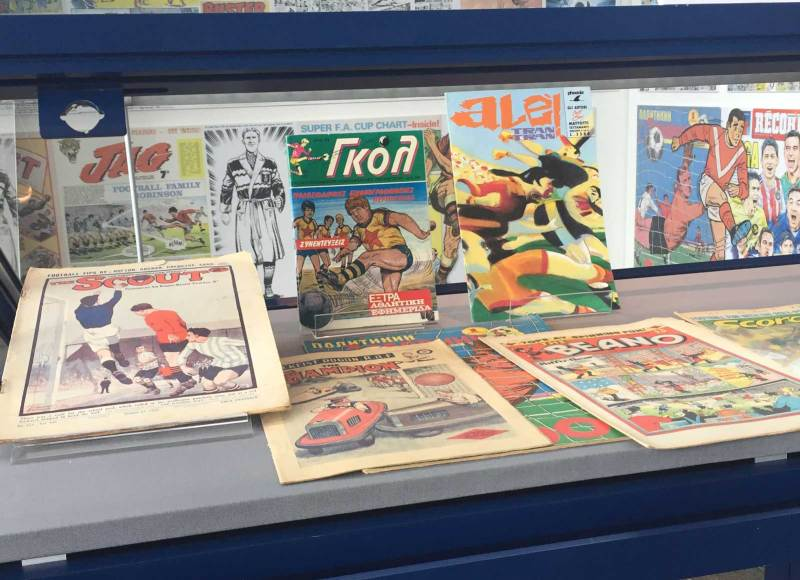 The comics on display are likely to change, drawn from the Museum's massive archive of material